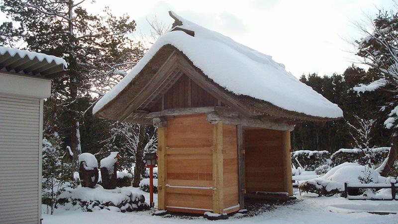 薬莱神社 大宮寺 山門修復工事